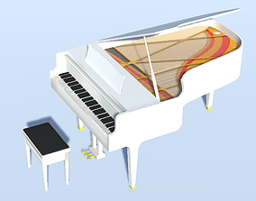 3D asset Grand Piano And Bench