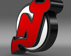 New Jersey Devils Logo 3D model