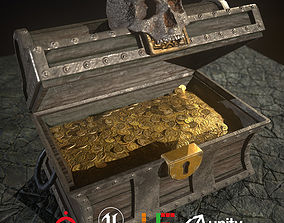 3D asset HIE Game Ready Treasure Chest D180326
