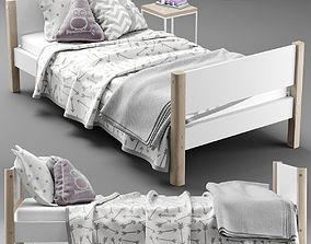 FLEXA SINGLE BED 3D model
