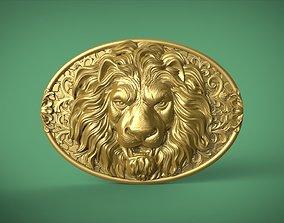 Lion Belt Buckle 3D printable model