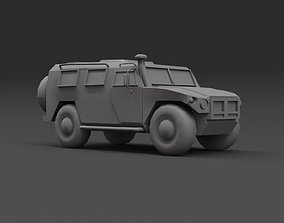 3D asset game-ready Military armoured vehicle kit 01