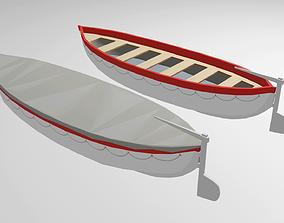 Classic Lifeboat 3D model