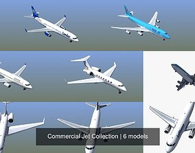 Commercial Jet Collection 3D model