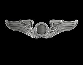 3D model USAAF Aircraft Observer Wings Badge