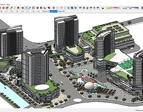 Sketchup 184 - Complex Building residential and 3D