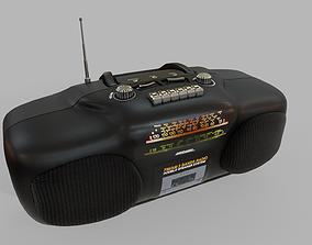 Radio Multi Colored 3D asset