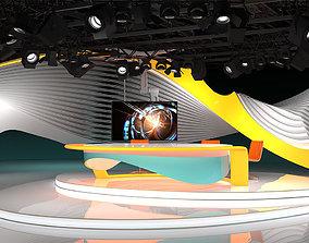 3D model Virtual TV Studio 03