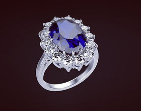 Ring Princess 77 3D print model jewelry