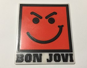 Bon Jovi Have A Nice Day Logo Coaster 3D print model