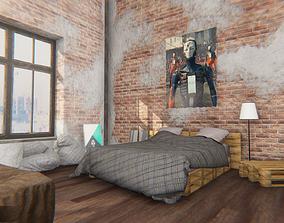 3D model realtime loft - modular interior