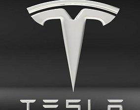 Tesla logo vehicle 3D