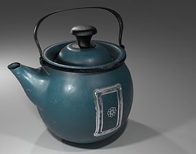3D asset Kettle Retro for games and not only