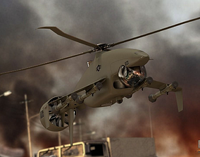 3D model Sharkeye X UAS Tactical Helicopter