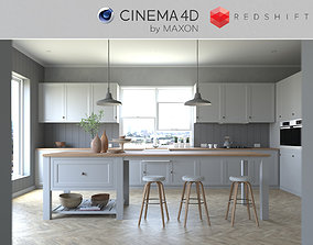 3D Redshift - C4D Scene files - French Country Kitchen