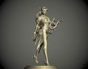 Eladrin women Bard pathfinder 3D print model bard