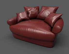 3D model Leather sofa PBR mid poly