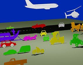Types of transport 3D model