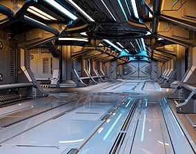 3D model Sci-Fi Modular Corridor 2