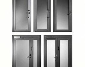 metal 3D model Metal fire doors