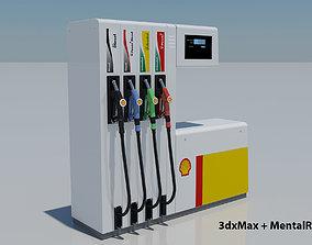 Fuel Dispenser Shell Brand 3D model