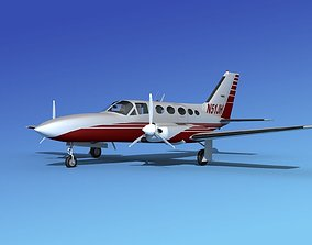 Cessna 414A Chancellor V10 3D model