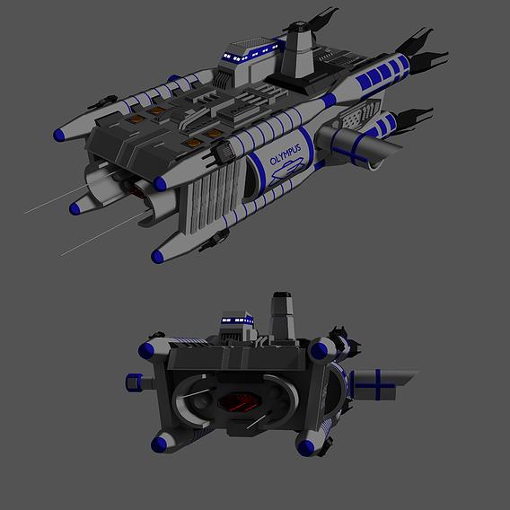 Olympus Class Corvette - Babylon 5 - Fan Art