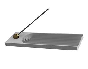 3D print model rectangular incense burner