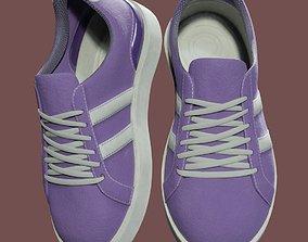 3D asset Casual Purple Sneakers