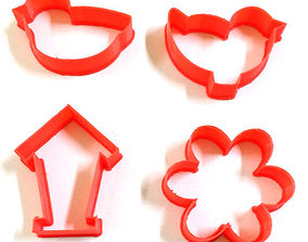 Birds Nature Cookie Cutters Set 3D printable model