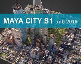 3D asset City S1 MAYA