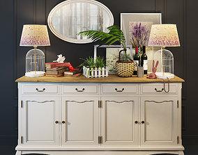 Sideboard dresser Leontina provence 3D