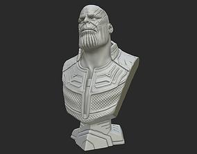 3D printable model Thanos Bust - Fan Art