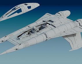 Buck Rogers StarFigther Thunder Fighter STL 3D print model