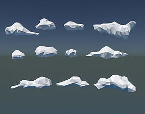 Low Poly Cloud Pack 3D model