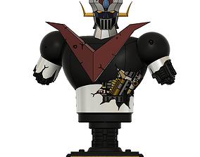 great mazinger battle damaged bust figure 3d model