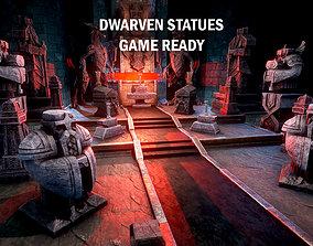 3D asset Dwarven statues