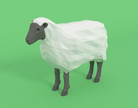 3D asset Low Poly Cartoon Sheep