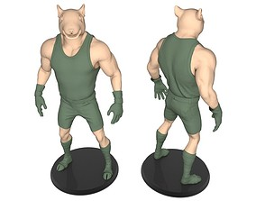 Beast man of Rat 3D print model