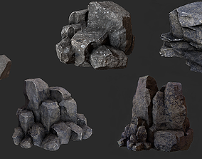 Rock Pack 3D model game-ready