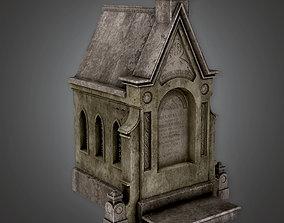 3D model Cemetery Mausoleum 5 - CEM - PBR Game Ready