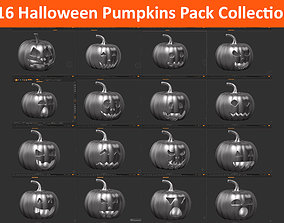 16 halloween pumpkin Mega Pack Collection 3D