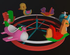 rigged Asset - Cartoons - Toys -Ferris wheel - 3D Model -