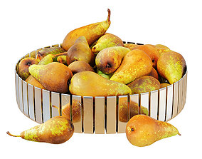 3D model Pear Conference in Metal Round Vase
