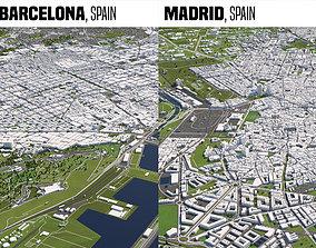 Spain 2 Cities 3D model