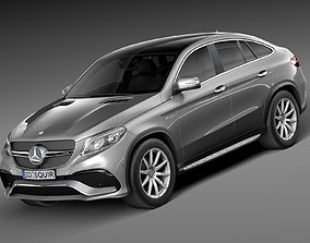 3D asset HQ Lowpoly Mercedes-Benz GLE63 AMG Coupe 2016
