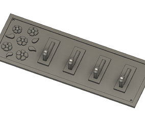 Wall keys holder 3D print model