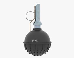 3D asset Low-poly model of Flashbang Zarya-3