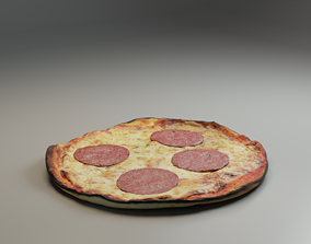 Pizza 3D asset VR / AR ready PBR