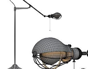3D model Steampunk Extension Pole Floor